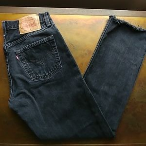 Vintage black Levis 501 - cropped made in USA